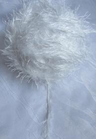 Fransenwolle Restwolle  in Weiß zum Häkeln oder Stricken Nadelstärke 3,5 - 4,5 mm (Grundpreis 100 g/4,39 €)  kaufen