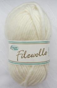 Wolle zum Filzen in der Waschmaschine bei 60°C  in der Farbe Wollweiß von Rellana Nadelstärke 8 mm (Grundpreis 100 g/4,00 €) kaufen