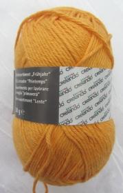 Baumwolle von Crelando  in der Farbe Gelb zum Häkeln und Stricken Nadelstärke 2,5 - 3,5 mm (Grundpreis 100 g/3,20 €) kaufen - Handarbeit kaufen