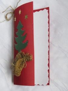 Klappkarte handgemacht aus Wellpappe in Rot mit einem weißen Einlegeblatt und einem Umschlag kaufen