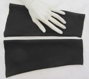 Handgefertigte Armstulpen ♥ zugeschnitten und genäht aus festem Jerseystoff in Schwarz für festliche Anlässe kaufen
