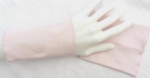 Handgefertigte Pulswärmer Stulpen Armstulpen ♥ handgenäht aus Baumwollstoff in Rosa auch als Ärmelverlängerung kaufen - Handarbeit kaufen