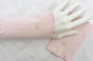 Pulswärmer Stulpen Armstulpen ♥ handgenäht aus Baumwollstoff in Rosa auch als Ärmelverlängerung kaufen - Handarbeit kaufen