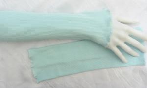 Stulpen Armstulpen Pulswärmer Damen ♥ handgenäht aus Baumwollstoff in hellem Türkis auch als Ärmelverlängerung kaufen - Handarbeit kaufen
