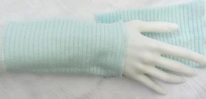Stulpen Armstulpen Pulswärmer Damen ♥ handgenäht aus Baumwollstoff in hellem Türkis auch als Ärmelverlängerung kaufen