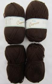 Wollpaket Caprice in der Farbe Dunkelbraun  (Grundpreis 100 g/2,00 €) von Rellana zum Häkeln und Stricken kaufen - Handarbeit kaufen