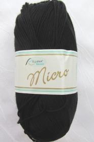Wolle Microfaserwolle in der Farbe Schwarz  (Grundpreis 100 g/3,20 €) von Rellana zum Häkeln und Stricken kaufen