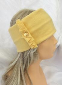 Besonderes Stirnband aus Fleecestoff in Gelb in attraktiver Form und Design kaufen