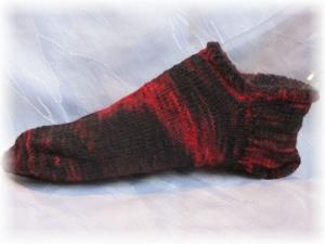 Handgestrickte kurze Socken Größe 41/42 ♡ aus handgefärbter Sockenwolle Endless Love kaufen - Handarbeit kaufen