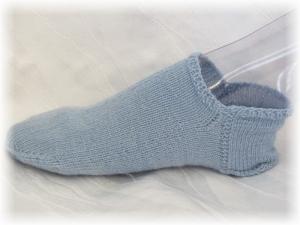 Handgestrickte kurze Socken Größe 41 ♡ aus Sockenwolle Blauer Himmel kaufen - Handarbeit kaufen