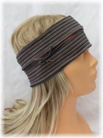 Handgefertigtes Stirnband Haarband Damen genäht aus Baumwolljersey in bunt gesteift kaufen