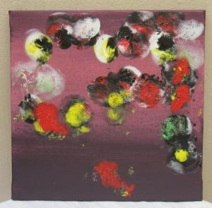 Handgemaltes Acrylbild mit dem Titel Bunte Welt gemalt mit Acrylfarben auf Keilrahmen direkt von der Künstlerin kaufen - Handarbeit kaufen