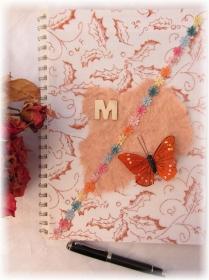 Handgestaltetes Tagebuch Journal Gästebuch Wünschebuch Notizbuch Blankobuch DIN A4 mit 50 Seiten zum Beschreiben - Handarbeit kaufen