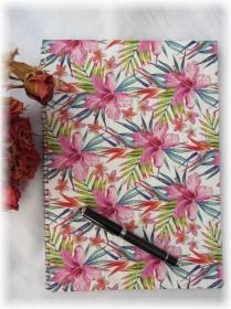 Handgestaltetes Tagebuch Journal Gästebuch Wünschebuch Notizbuch Blankobuch DIN A4 mit 39 farbigen Doppelseiten zum Beschreiben - Handarbeit kaufen
