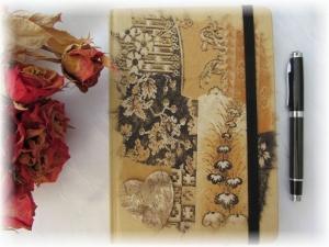 Handgestaltetes Tagebuch Journal Gästebuch Wünschebuch Notizbuch DIN A5 mit schönen Sprüchen und Gedichten - Handarbeit kaufen