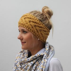 Stirnband * EFFI merino * aus Wolle handgestrickt von zimtblüte / Farbwahl