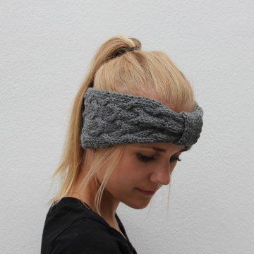 Stirnband * ANNA * handgestrickt von zimtblüte / Farbwahl - Handarbeit kaufen