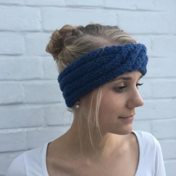 zimtblüte Stirnband  ** ISA ** handgestrickt Schurwolle Alpaka 4 Farben  - Handarbeit kaufen
