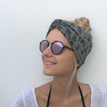 Turban Stirnband **LEOPRINT** Animalprint  Handarbeit von zimtbluete
