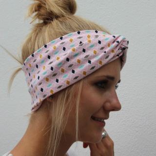 ! SALE ! Bandeau Stirnband * ROSA * Turbanstyle von zimtblüte  - Handarbeit kaufen