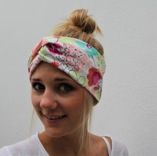 ! SALE !  Turban Stirnband **BLUMEN**  mit Twist Bandeau von zimtblüte