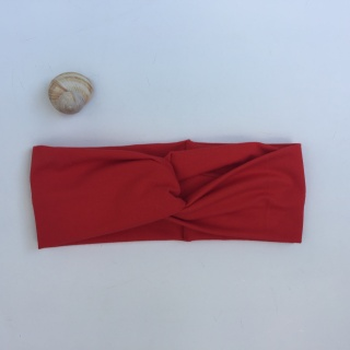 Turban Stirnband **EINFARBIG** in tomatenrot viele Basicfarben vorhanden!