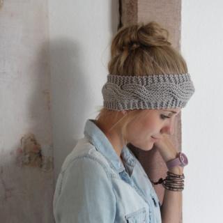 Stirnband Haarband *BILLIE*  handgestrickt von zimtblüte 5 Farben  - Handarbeit kaufen