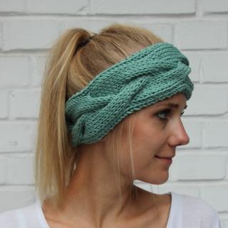 Stirnband Haarband ** FEE ** mint handgestrickt von zimtblüte /  Farbwahl