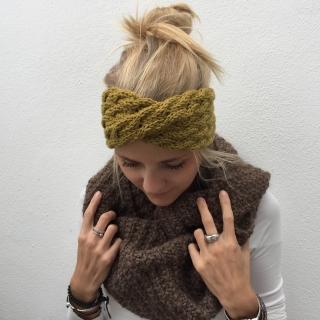 Stirnband ** AMY **  senfgelb von zimtblüte individualisierbar viele Farben