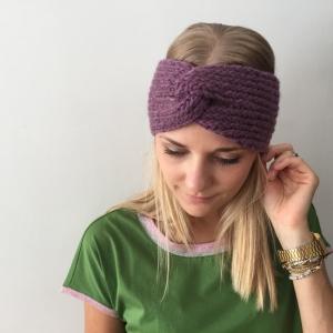 ! SALE ! Stirnband gestrickt  ** CARO melange ** mit Kaschmir handgestrickt mit Twist von zimtblüte - Handarbeit kaufen