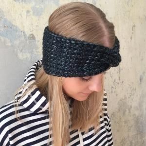 Stirnband Modell **MARIE melange** dunkelblau