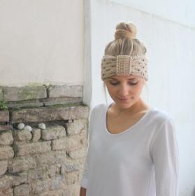 LAST MINUTE  Stirnband * ALMA * aus Wolle handgestrickt von zimtblüte sand - Handarbeit kaufen