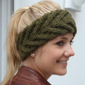 Stirnband  handgestrickt ** EFFI alpaka ** von zimtblüte / 8 Farben     - Handarbeit kaufen