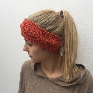 Stirnband * BILLIE *  handgestrickt aus Wolle von zimtblüte in 7 aktuellen Farben