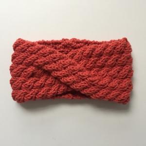 Stirnband handgestrickt  **  AMY **  koralle von zimtblüte mehrere Farben   - Handarbeit kaufen