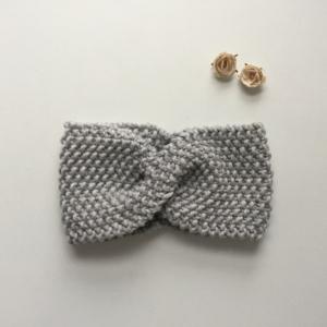 Stirnband * MARIE *  hellgrau handgestrickt von zimtblüte