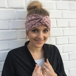 ! SALE ! Stirnband mit Knoten ** BLINGBLING** puderrosa mit Gold von zimtblüte im Turbanstyle  - Handarbeit kaufen