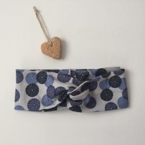 Turban Stirnband * SEEIGEL *  blau Handarbeit von zimtbluete   - Handarbeit kaufen