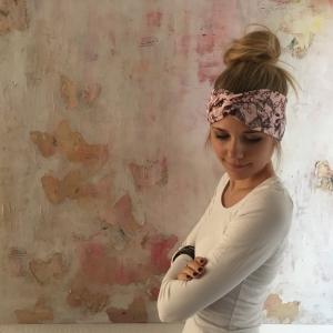 Turban Stirnband * BIRDY *  mit Vögelchen Handarbeit von zimtblüte  Haarband