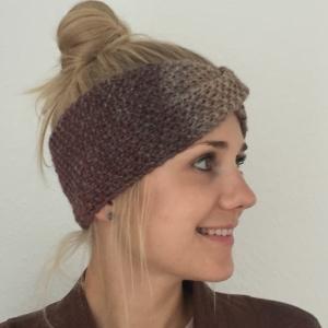 Stirnband * MARIE *  Farbverlaufsgarn Brauntöne handgestrickt von zimtblüte