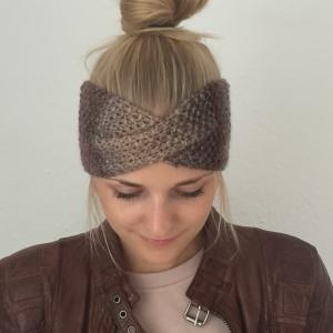 !SALE! Stirnband * MARIE *  Farbverlaufsgarn Brauntöne handgestrickt von zimtblüte