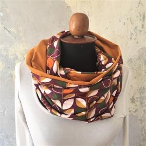 SALE ! Schlauchschal  * RETRO * IndianSummer Trendfarbe 2019/2020  XL auch Stillschal von zimtblüte    - Handarbeit kaufen