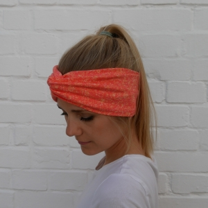 ! SALE ! Turban Stirnband ORANGE Haarband von zimtblüte - Handarbeit kaufen