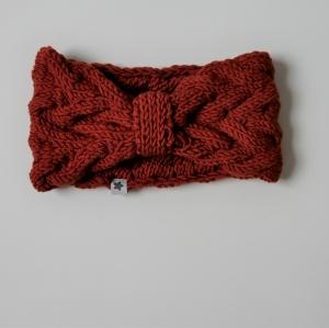 Stirnband * ANNA * rostrot von zimtblüte  handgestrickt von zimtblüte - Handarbeit kaufen