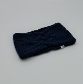 LAST MInute Stirnband *ZOE *  Handgestrickt  aus Wolle von zimtblüte dunkelblau