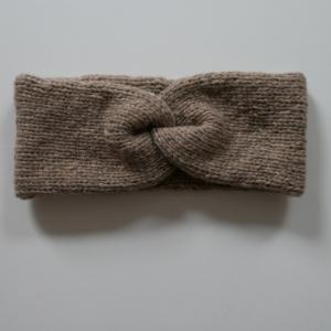 Handgestricktes Stirnband CARO double Handarbeit Wolle Kaschmir von zimtblüte sand und andere Farben