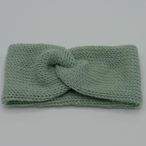 Stirnband Modell CARO double Wolle von zimtblüte handgestrickt  in 4 Farben - Handarbeit kaufen