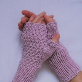 Fingerlose Handschuhe ELIN Stulpen aus Wolle handgestrickt von zimtblüte