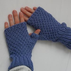 Fingerlose Handschuhe ELIN Stulpen aus Wolle handgestrickt von zimtblüte  - Handarbeit kaufen