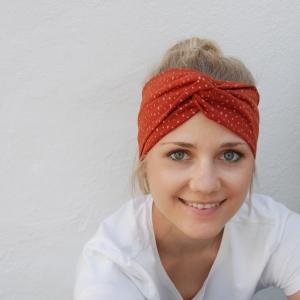 ! SALE ! Turbanstyle Stirnband BLINGBLING mit Glitzer Handarbeit von zimtblüte  TurbanHaarband     - Handarbeit kaufen